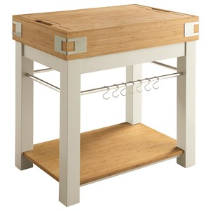 Kitchen Island with Removable Cutting Board