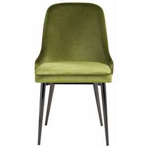 Upholstered Dining Chair with Tapering Legs