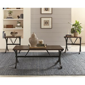 Industrial Three Piece Table Set