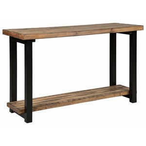 Rustic Plank Top Sofa Table