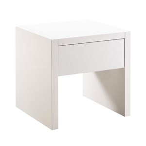 Contemporary End Table with High Gloss Finish