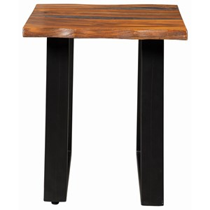 Modern Rustic Side Table with Live Edge
