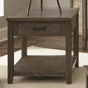 Transitional End Table with Drawer