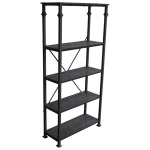 Industrial Four Shelf Bookcase