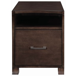 Transitional File Cabinet with Curved Front