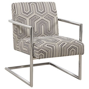 Modern Accent Chair with Geometric Pattern