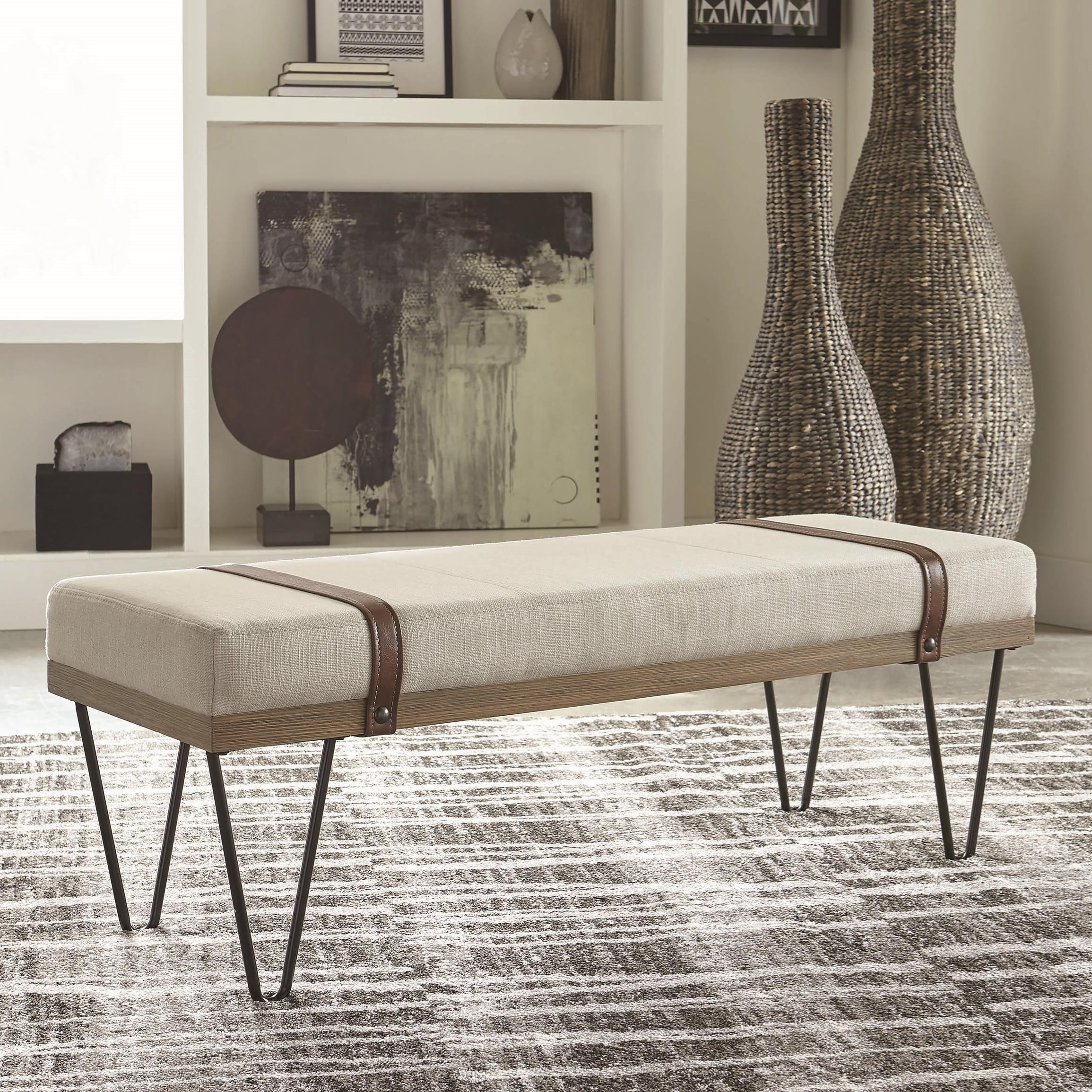 910240 Upholstered Bench by Coaster at Furniture Superstore - Rochester, MN