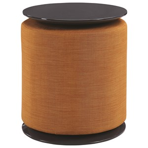 Round Accent Table with Ottoman