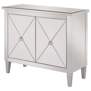 Accent Cabinet with Mirrored Panels