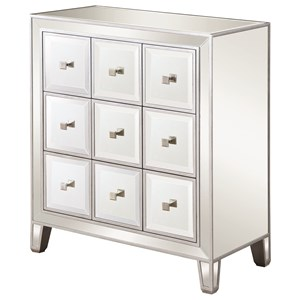 Glam Mirrored Accent Cabinet