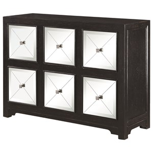 Modern Accent Cabinet with Mirrored Drawers