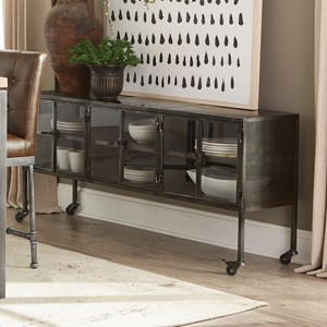 Industrial Accent Cabinet with Casters