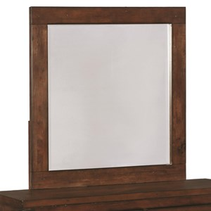 Dresser Mirror with Wood Frame