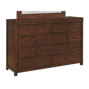 Vintage Inspired Ten Drawer Dresser
