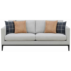 Contemporary Sofa with Metal Base