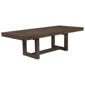 Industrial Dining Table with Leaf