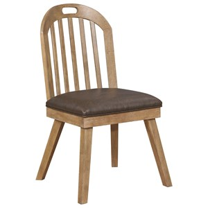 Curved Back Slat Dining Chair