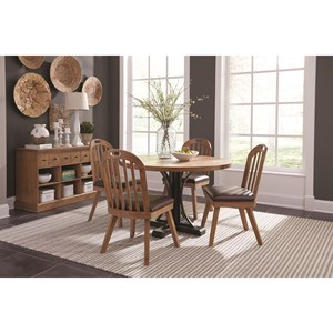 Dining Room Group with Server and Round Table