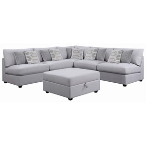 Modular Sectional with Storage Ottoman