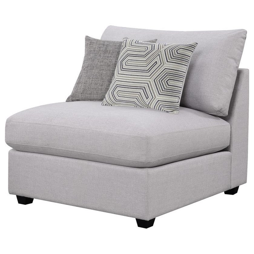 Charlotte Armless Chair by Coaster at HomeWorld Furniture