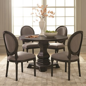 Traditional Pedestal Table and Chair Set