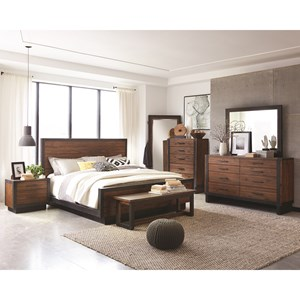 Industrial King Bedroom Group