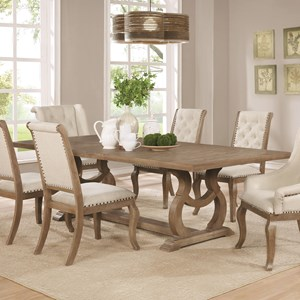 Traditional Dining Table with Trestle