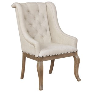 Arm Chair with Button Tufting and Nailhead Trim