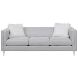 Modern Sofa with Acrylic Feet