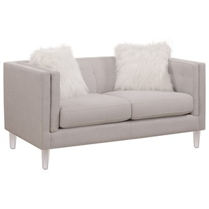 Modern Loveseat with Acrylic Legs