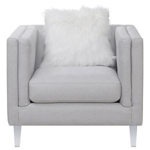 Modern Chair with Acrylic Feet