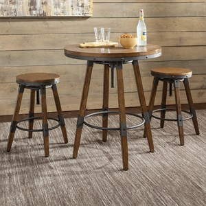 Rustic Adjustable Table and Chair Set