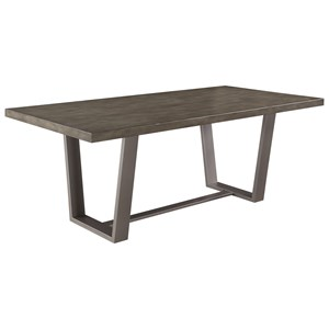 Modern Dining Table with Composite Concrete Top