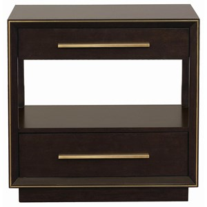 Contemporary Nightstand with 2 USB Ports
