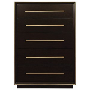 Contemporary Chest with Metal Trim
