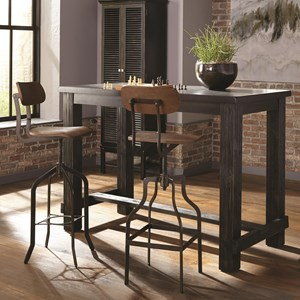 Industrial Table and Chair Set