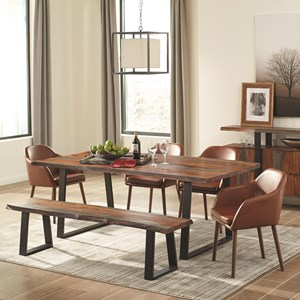 Rustic Dining Room Set with Bench