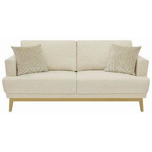Transitional Sofa with Wood Base