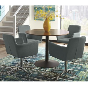 Modern Round Dining Table Set