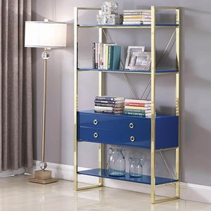 Glam Bookcase with Four Shelves