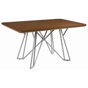 Mid Century Modern Dining Table with Hairpin Legs