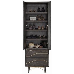 Contemporary Shoe Tower Tall Chest with Doors