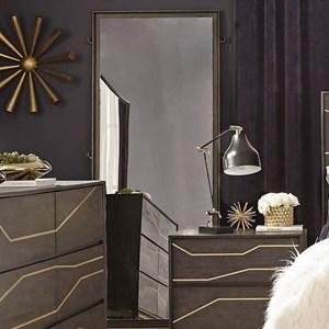Floor Mirror with Coat Hooks