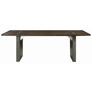 Industrial Dining Table with Concrete Composite Base