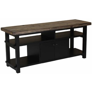 Rustic Two-Tone TV Stand