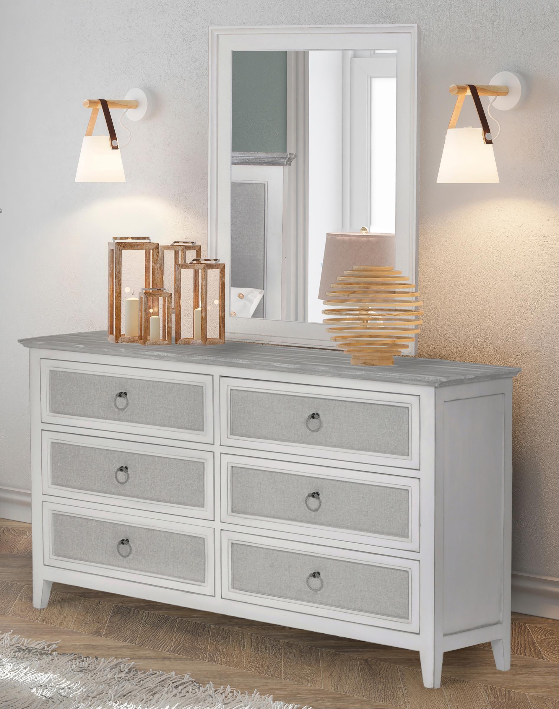 Captiva Island Six drawer dresser and mirror by Sea Winds Trading Company at Johnny Janosik