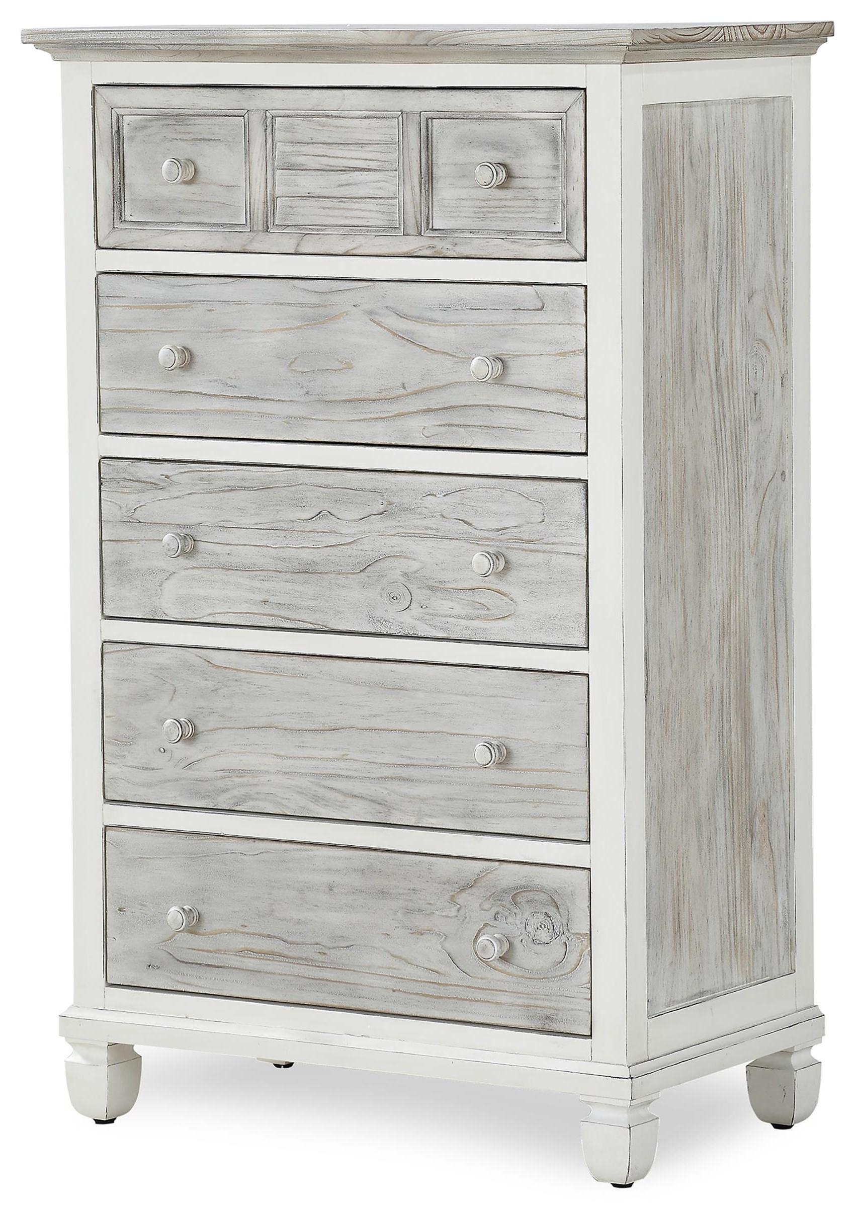 islamorada five drawer chest by Sea Winds Trading Company at Johnny Janosik