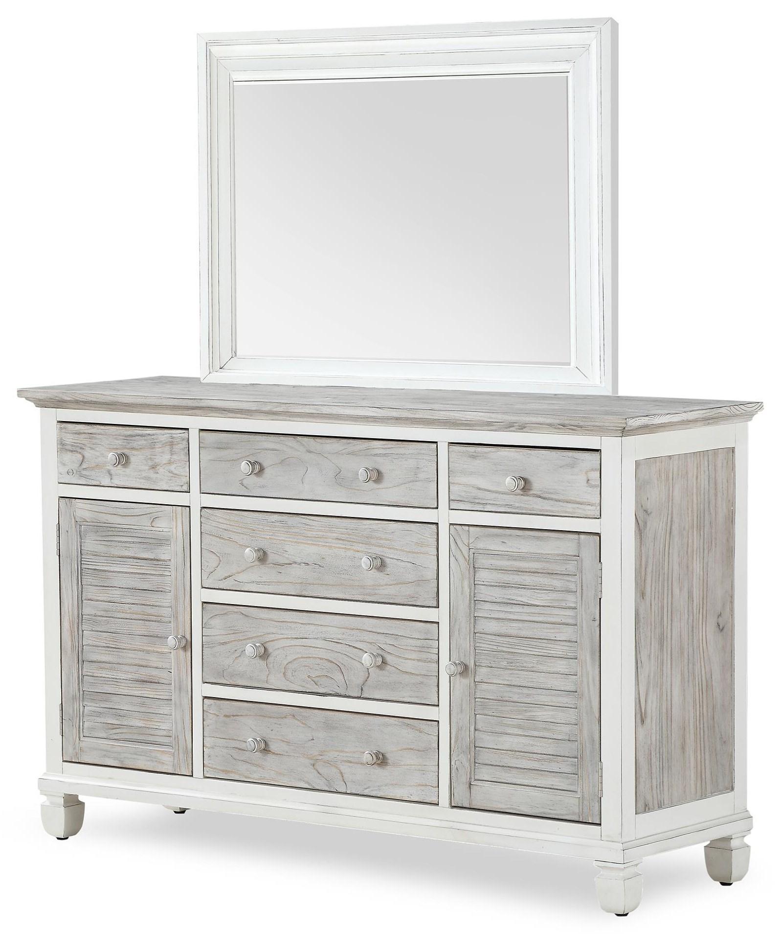 islamorada Dresser and Mirror by Sea Winds Trading Company at Johnny Janosik