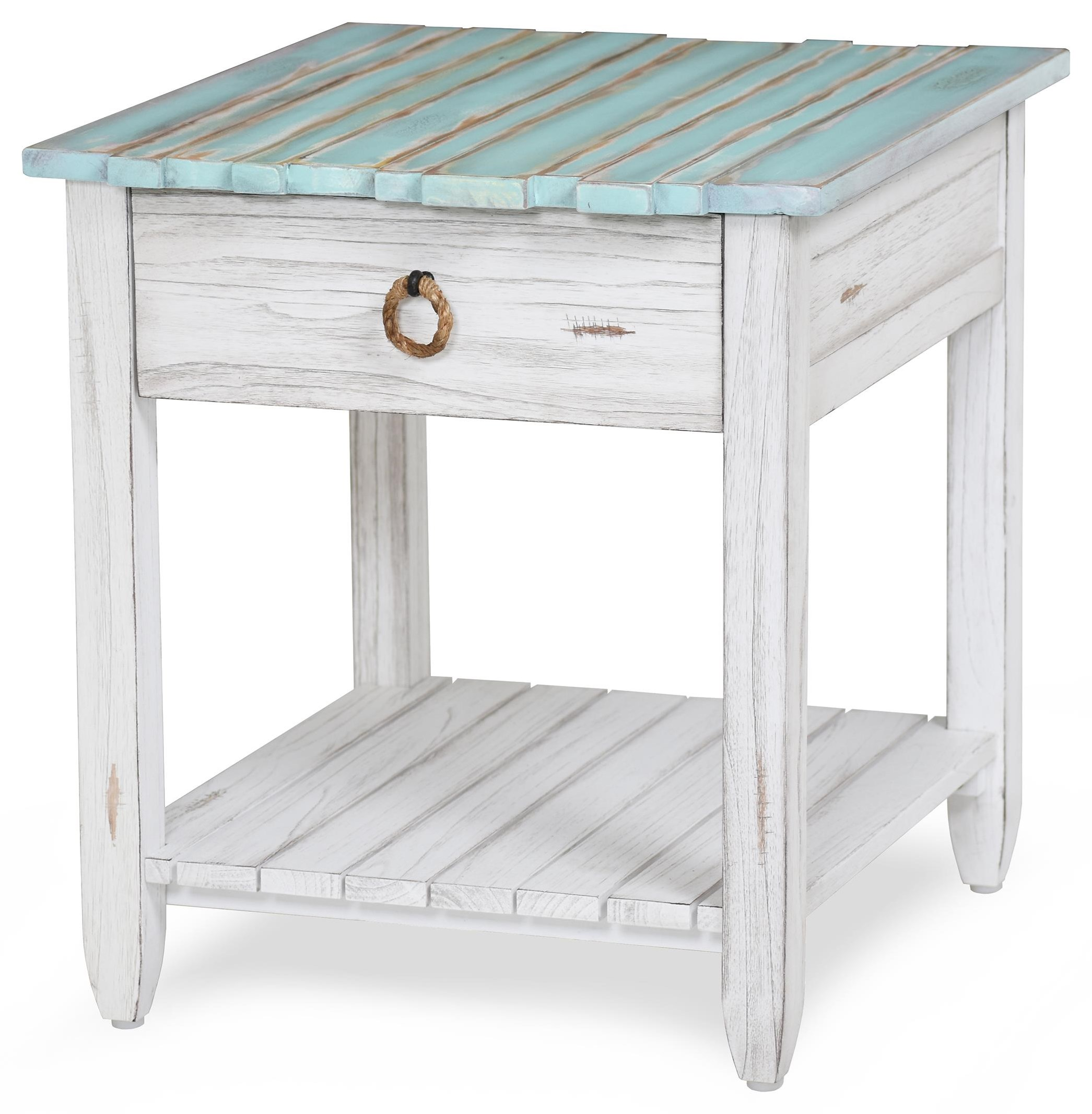 picket fence end table by Sea Winds Trading Company at Johnny Janosik