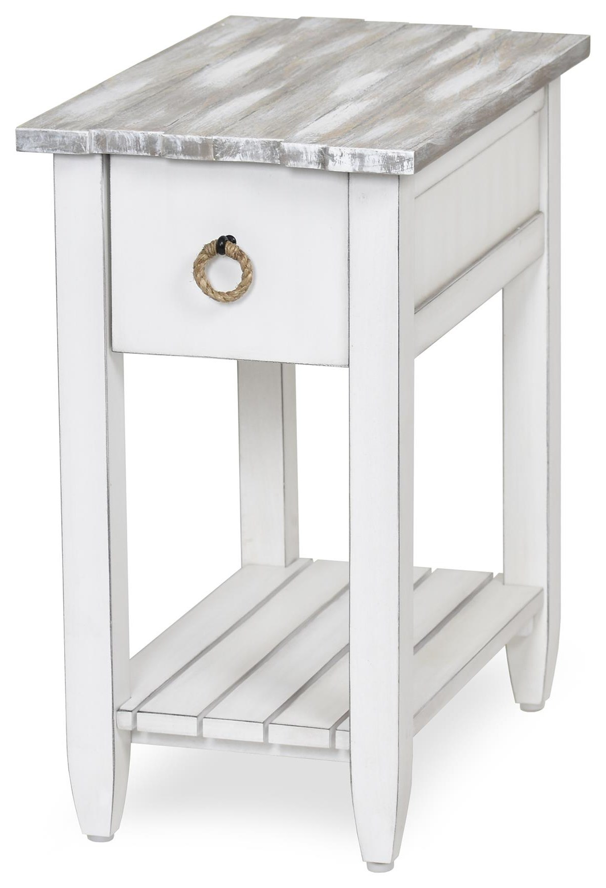 picket fence chair side table by Sea Winds Trading Company at Johnny Janosik